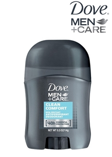LĂN KHỬ MÙI MINI DOVE MEN +CARE CLEAN COMFORT 0.5 OZ (14G)